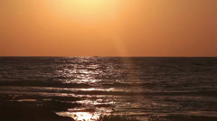 Sunset in Mediterranean sea, Cyprus Stock Footage