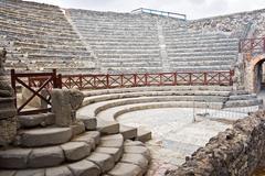 Pompeii amphitheater - stock photo