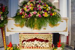 buddhist funeral. - stock photo
