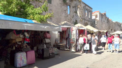 Split Outdoor Market 3 - stock footage