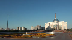 Presidential palace in Astana, Kazakhstan Stock Footage