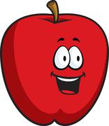 Stock Illustration of Apple Smiling