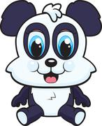 Baby Panda - stock illustration