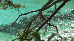 Sparkling water surface Stock Footage