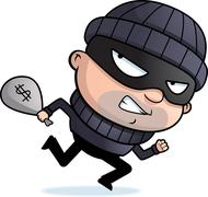 Stock Illustration of Burglar Running