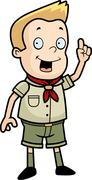 Boy Scout Idea - stock illustration