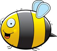 Bee Smiling - stock illustration