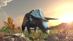 jurassik Dinosaur Triceratops - stock illustration