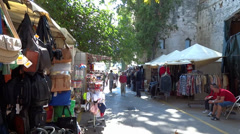 Split Outdoor Market - stock footage