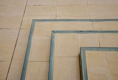 The corner of brown stair pattern - stock photo