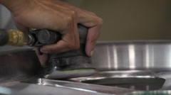 Sanding a Wheel Stock Footage