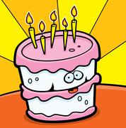 Birthday Cake - stock illustration
