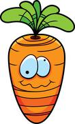 Carrot Smiling - stock illustration