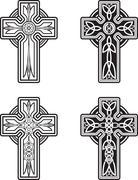 Celtic Crosses - stock illustration