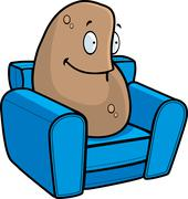 Couch Potato - stock illustration