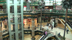 Shopping mall in Astana, Kazakhstan - stock footage