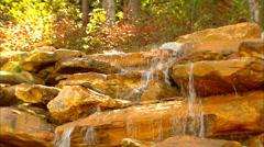 Smokey Mountain Waterfall CU Stock Footage