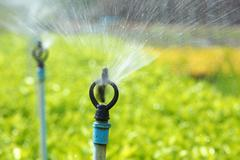 agricultural sprinkler - stock photo