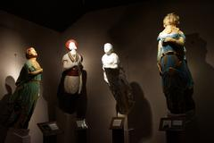 Figureheads from historic new england sailing ships Stock Photos