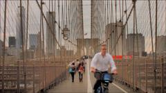 NYC brooklyn Bridge TIme Lapse Stock Footage