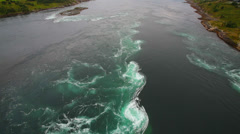 Saltstraumen famous stream in Norway Stock Footage