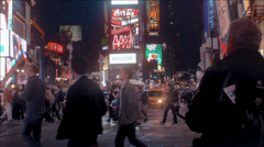 Times Square 42nd street time lapse Stock Footage