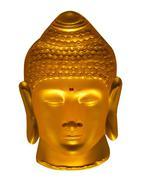 Buddha isolated on white - stock photo