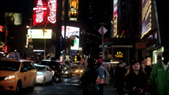 Stock Video Footage of NYC Times Square Night Time Lapse
