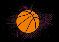 College basketball sports vector art Stock Illustration