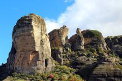 Meteora rocks, Greece Stock Photos