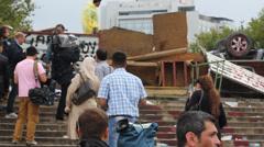 Gezi Park Barricades Stock Footage