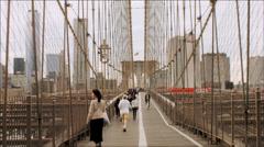 NYC Brooklyn Bridge Stock Footage
