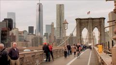 NYC Brooklyn Bridge / Freedom Tower Stock Footage