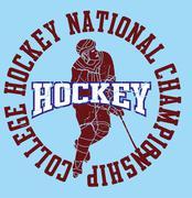 college hockey team vector art - stock illustration