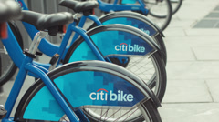 NYC Citi Bike Stock Footage