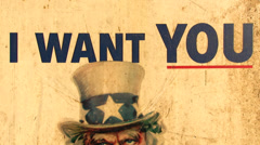 UncleSam I Want You Stock Footage