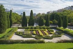 Famous flower beds in the park in Valencia, Spain - stock photo
