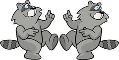 Raccoon Dancing Stock Illustration