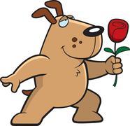 Dog Flower Stock Illustration