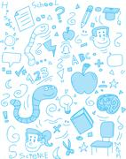 Stock Illustration of School Doodle