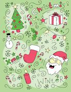 Christmas Doodle Stock Illustration