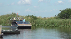 Stock Video Footage of Airboat tour of the Florida Everglades
