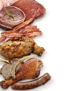 Meat assortment Stock Photos