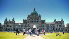 British Columbia Parliament Buildings, Victoria BC Legislature Stock Footage