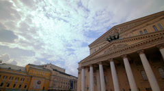 Daylight view of the Bolshoi Theater in Moscow, Russia Stock Footage