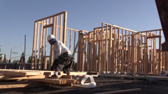 New home building progress Stock Footage