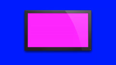 Wide Screen Animation on a Blue Background - stock footage