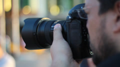 A Photographer at Gezi Park Protests Stock Footage