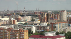 Apartment buildings in Astana, Kazakhstan Stock Footage