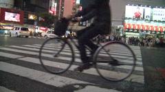 Shibuya Crossing by night - stock footage